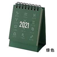 カレンダー 2021年 2021十二星座シリーズミニ卓上カレンダーDIYポータブル卓上カレンダーデイリースケジュールプランナー2020.07から2021.12 タイムプラン (Color : 2)