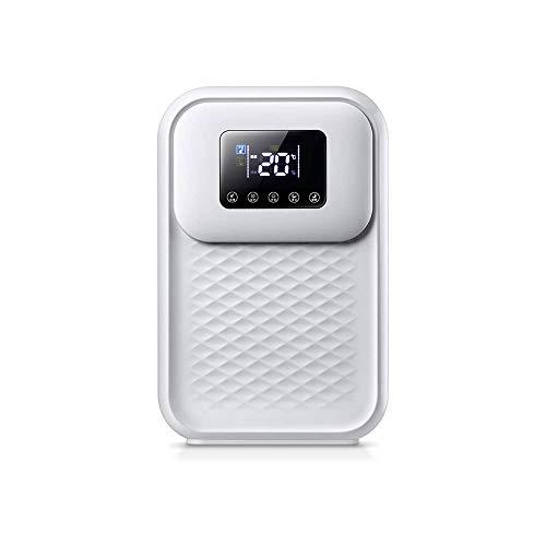 LKNJLL Pequeño deshumidificador, Quiet eléctrica Deshumidificadores Con 1500ml Depósito de agua extraíble, alta humedad, compacto y portátil Mini deshumidificador for el sótano cuarto de baño dormitor
