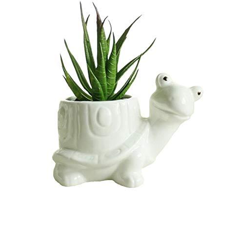 somarke Animal Shaped Ceramic Flower Pot, White Porcelain, Succulent Plants Pots for Home/Garden Planter/Vase, Mini Decorative Pot