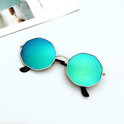 xingxing 1 gafas de sol de plástico irregulares para mujer con marco de metal (color del marco: 4)
