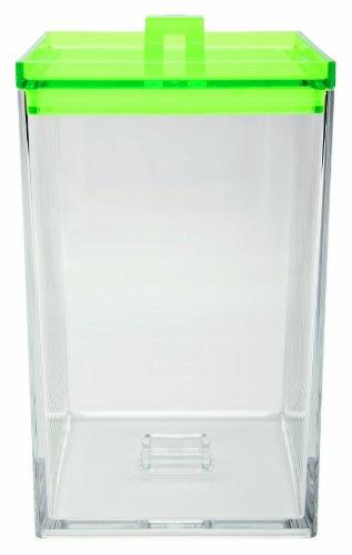 ZAK Designs 0989-0230 Meeme Boîte Rangement Empilable Vert/Transparent L
