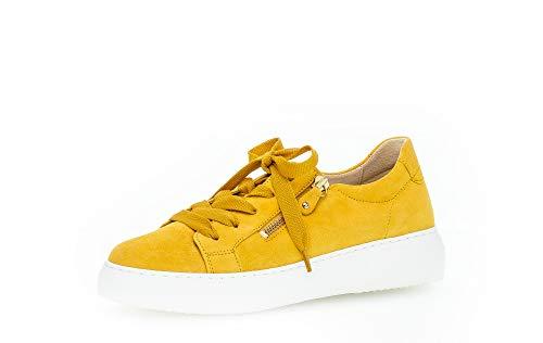 Gabor Damen Sneaker, Frauen Low-Top Sneaker,Best Fitting,Reißverschluss,Optifit- Wechselfußbett, sportschuh Plateau-Sohle Lady,Sun,36 EU / 3.5 UK