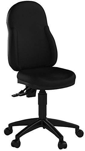 Topstar 8059U BB0 Wellpoint 10 Deluxe Sedia girevole da ufficio con braccioli regolabili in altezza e rivestimento in tessuto, colore: Nero