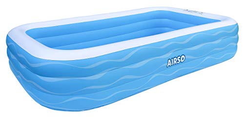 Inflatable Swimming Pool Family Full-Sized Inflatable Pools 118' x 72' x 22' Thickened Family Lounge Pool for Toddlers, Kids & Adults Oversized Kiddie Pool Outdoor Blow Up Pool for Backyard, Garden