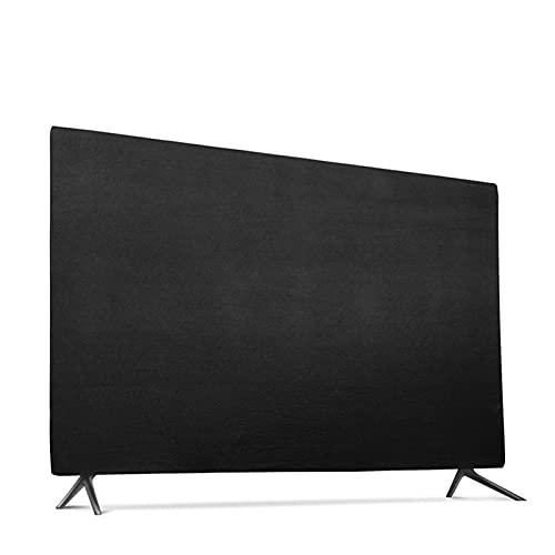 HYTM Cubierta de TV Polvo de Tela elástica Suave para 43'49' 55'TV LCD TV Hang-TIPE Televisión Rasguño Resistente a la Prueba de Salpicaduras (Color : Negro, Specification : 49inch)