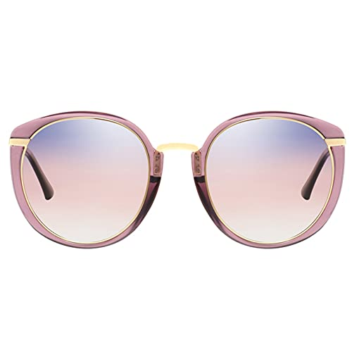 YUANCHENG Gafas de Sol polarizadas para Mujer, Tonos Retro con Montura Ovalada, Gafas para Mujer