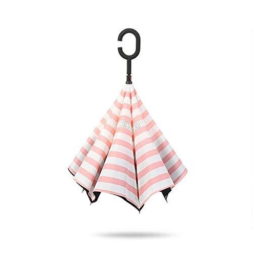 ZGMMM Parapluies pour Filles Se Pliant en Parapluie inversé pour Voiture Hommes Femmes Double résistant aux intempéries Petit Fraiscomme Le Montre 0