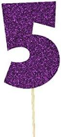 Juego de 10 adornos para /árbol de flores de Poinsettia con purpurina ZZYXiao AMARILLO