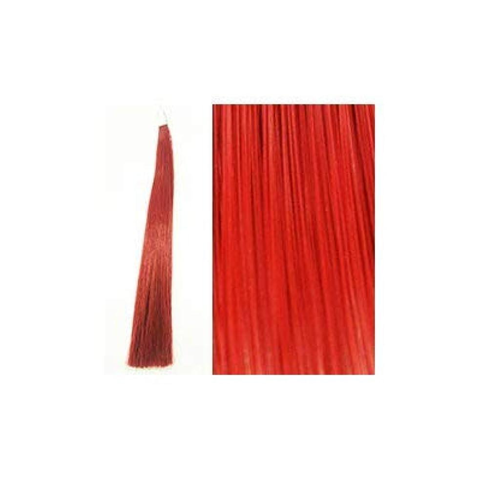 パイント不規則性適応カミエク ヘアーエクステンション ディープレッド 4本毛