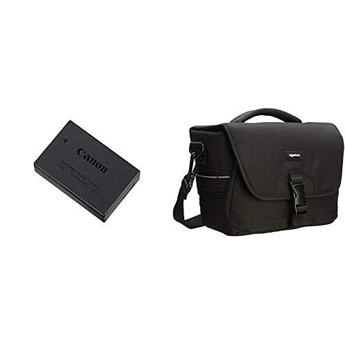 Canon LP-E17 - Bateria para cámara EOS M3 + AmazonBasics - Bolsa para cámaras DSLR y Accesorios (tamaño Mediano), Negro y Gris