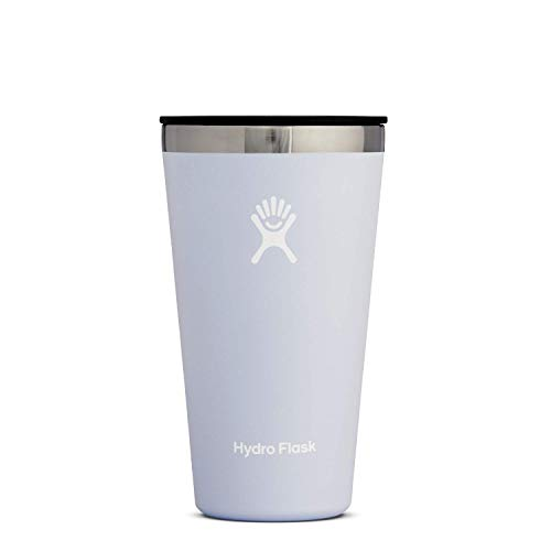 Hydro Flask Tumbler Cup - Stainless Steel & Vacuum Insulated - Press-In Lid - 16 oz, Fog