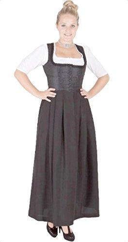 Stoiber 13134 Gastro Waschdirndl schwarz 95er länge Size 50