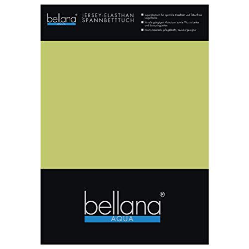 Bellana Aqua-Jersey Multifunktions Spannbettlaken für Wasserbetten Boxspringbetten / 180-200 x 200-220 cm moos