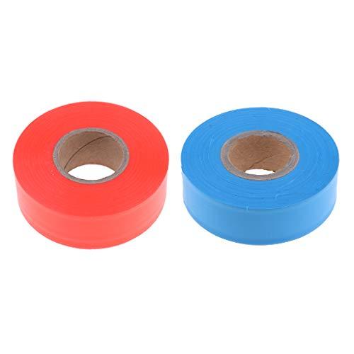 2pcs 45m / 147ft Flagging Tape Marking Ribbon, Wasserdicht, Hohe Sichtbarkeit