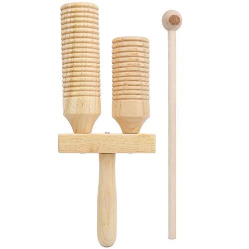 Instrumentos musicales de varilla de tubo de sonido de madera exquisita Juguetes para uso doméstico para niños
