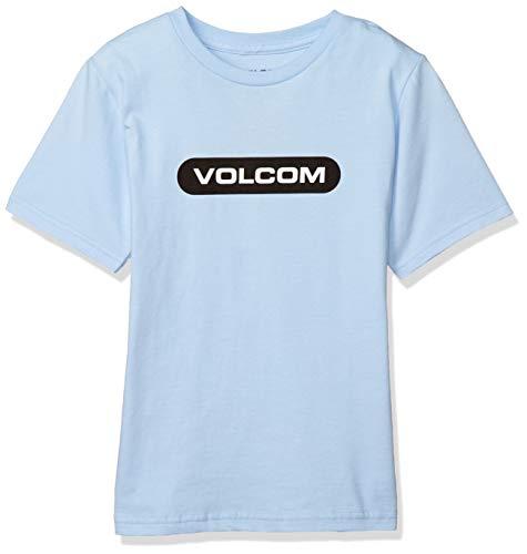 [ボルコム] [キッズ] 半袖 プリント Tシャツ (ロゴプリント)[ Y3512001 / NEW EURO S/S TEE ] 子供服 かわいい PDR_パウダーブルー US 5 (日本サイズ120 相当)