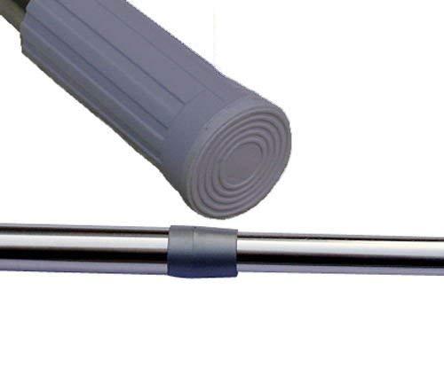 Keraiz Barre de Rideau de Douche télescopique Extensible en Acier Inoxydable Argenté 110 x 6 x 5 cm