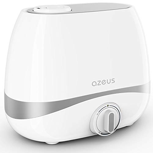 AZEUS Humidifiers, 5L Ultrasonic Cool Mist Humidifier for Large Room Babies Office, Quiet Humidifiers with Microporous filters, Lasts up to 50 Hours, Auto Shut-Off (BPA-Free)