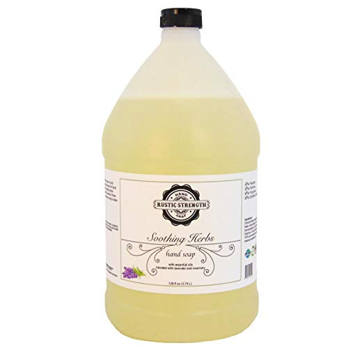 Liquid hand soap, Soothing Herbs, 128oz refill (lavender/rosemary)