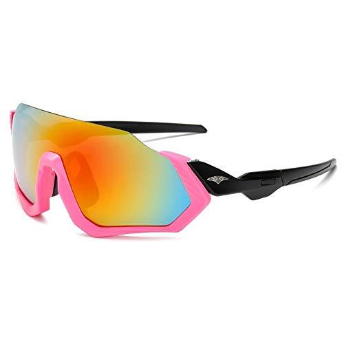 Yi-xir diseño Clasico Nuevas Gafas de Sol Deportivas al por Mayor Fuera de los Hombres y Las Mujeres Que montan Gafas de Sol PC Film Gafas de Sol a Prueba de explosiones Moda (Color : 5)