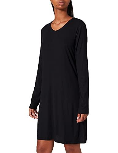 Schiesser Damen Sleepshirt 90cm Nachthemd, schwarz, 42