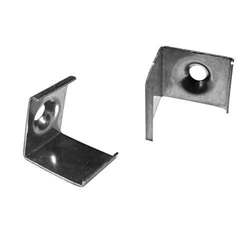 4x Montagehalterungen für das LED Alu-Modell ECKE-90 von Alumino® zum Einklicken