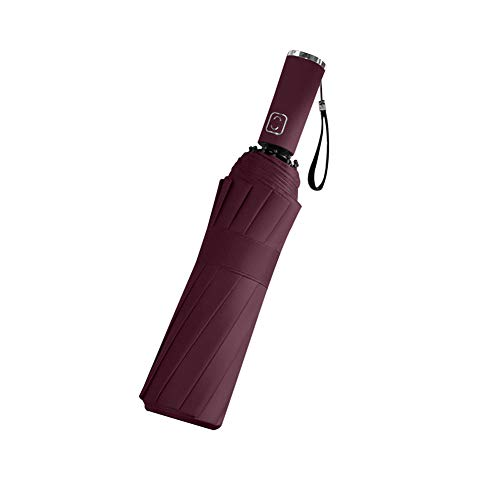 ASDMRQ paraguas, paraguas plegable automático para sombrilla, protector solar reflectante rayas paraguas, negocio plegable paraguas para hombres y mujeres
