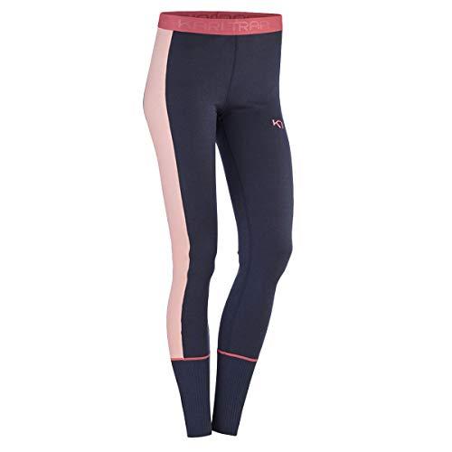 Kari Traa Women's Perle Base Layer Bottoms - Moisture-Wicking Thermal Pants, Marin, Small