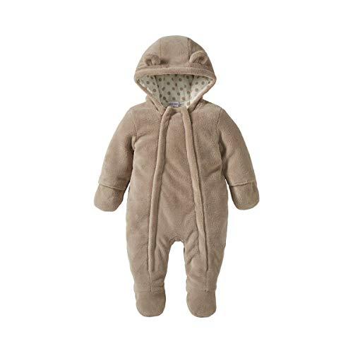BORNINO Plüschoverall Baby-Schneebekleidung, Größe 50/56, braun