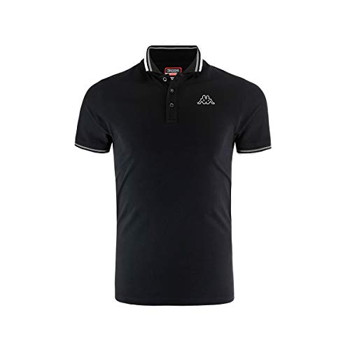 Kappa Esmo T-Shirts & Polo Shirts Men Black - XXL - Short-Sleeved Polo Shirts Shirt