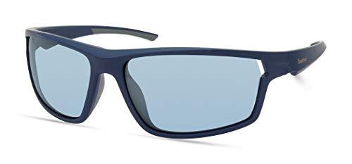 Timberland Gafas de sol rectangulares Tba9271 para hombre, Azul marino mate,