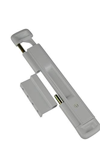 CAL Doublex Classic: protección de ventana para puerta corredera, puerta para terraza y ventana corredera, protección antirrobo para puerta de balcón, protección antirrobo (blanco)