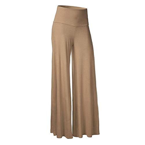 N\P Pantalones de Verano de las Mujeres Más el Tamaño de las Mujeres Sexy Color Sólido Suelto Pantalones de Cintura Alta Ancho de la