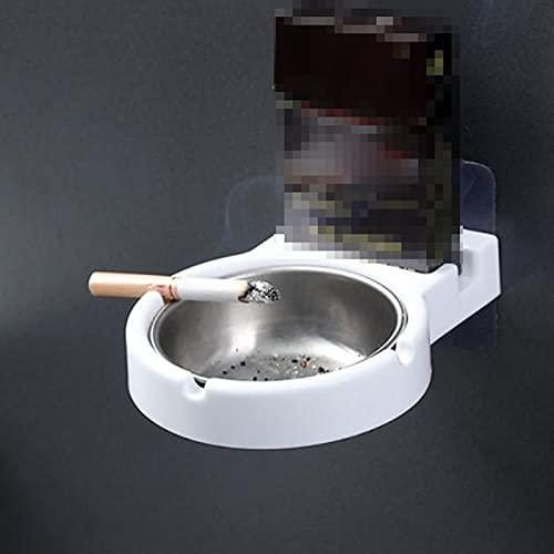 WZJFZPL Muro de cenicero portátil Bolsillo de Acero Inoxidable Titulares de Humo Taza de Almacenamiento para Aseo Hogar de la Oficina Herramientas de Cigarrillos Caja para Fumadores