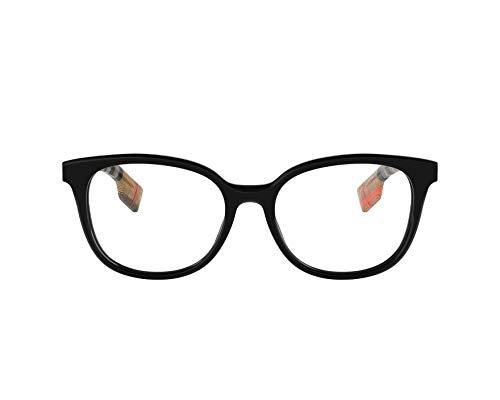 BURBERRY Brille (BE-2291 3757) Acetate Kunststoff schwarz glänzend - beige gestreift