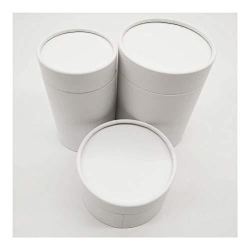 ZHHO Mailing Papel del Tubo de cartón del Frasco Cylindar Ronda Tarro de Embalaje Caja de Regalo Packing (Color : White, Gift Box Size : 8.2x8.2x22cm)
