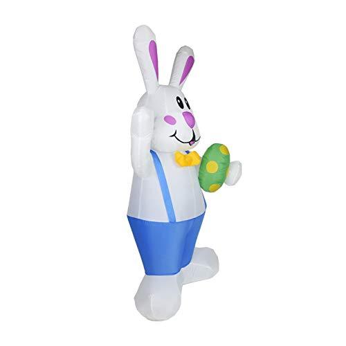 humorous 1,9 M / 6,23 Pies Conejo Inflable De Pascua Conejito Inflable De Pascua Conejo Feliz Inflable Figuras De Decoración De Conejo para Interiores Patio Exterior Césped Jardín Decoración Familiar