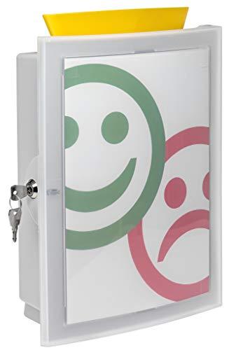 HAN Sammelbox IMAGE'IN – die Wahlurne, Spendenbox, Losbox oder Aktionsbox in Bestform. Zur Wandmontage oder freistehend, lichtgrau, 4102-11