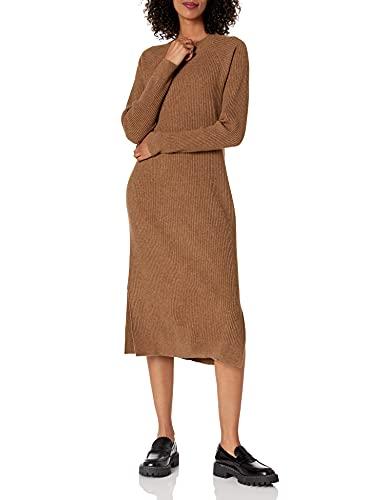 The Drop - Vestido Renata para mujer, corte midi, en canalé