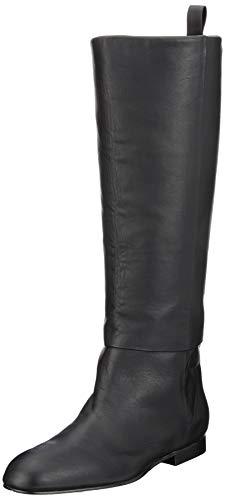 Jil Sander JN31007A, Bottes Hautes Femme - Noir - Noir (Nero 999), 36 EU