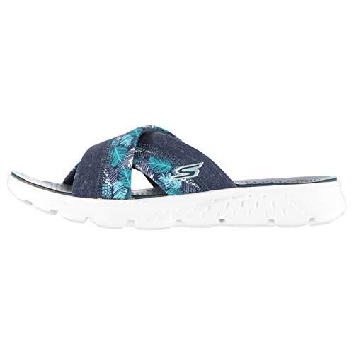 Skechers On-The-Go 400-Tropical, Sandalias Flip-Flop para Mujer, Azul (Nvy), 38 EU