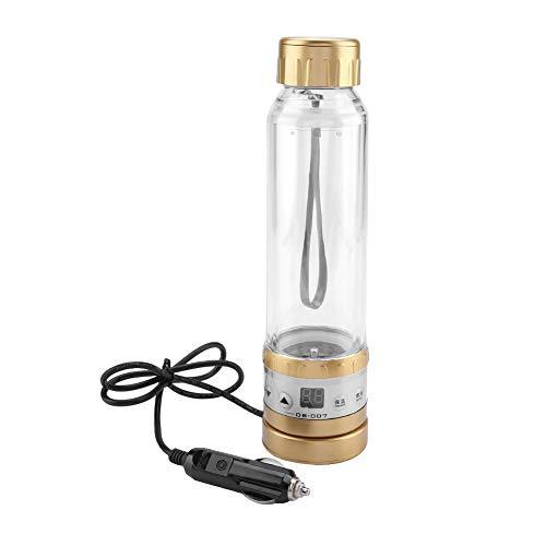 Fournyaa Bouilloire d'eau Chaude 280 ML, Tasse de Voyage de Voiture, Nouilles instantanées d'eau bouillante café thé Lait pour Voyage(Golden)