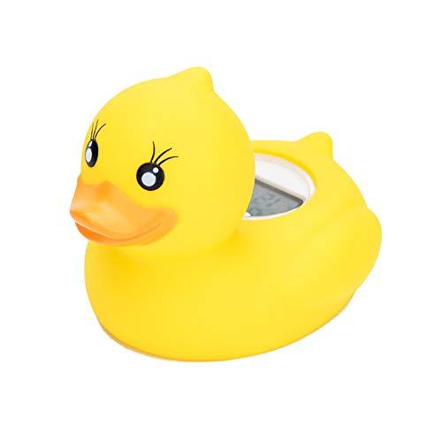 Weikeya Baby Badethermometer Wasserthermometer Baby Bad Schwimmthermometer Spielzeug Thermometer für Sicherheit Bad Pflege(Gelb Badeente)
