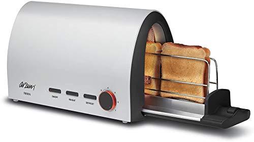 Arzum Firrin Tostador, 950W, Apagado Automático, Botón de Funcionamiento con Cable, Recalentamiento, Descongelamiento, Botón de Temperatura Ajustable, Luz Indicadora (Blanco)