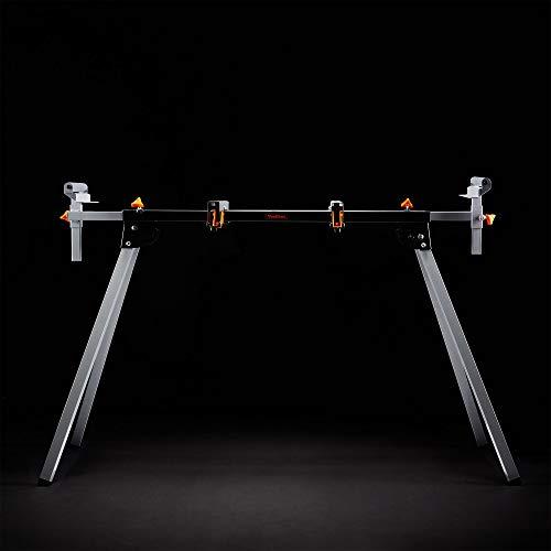 VonHaus Support de Travail pour Scie à Onglet - Plateforme d'atelier/pince/surface de coupe - Métal robuste avec pieds pliants