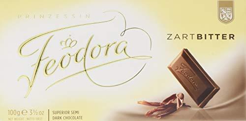 Feodora Chocolade-Tafel Tradition Zart-Bitter, 5er Pack (5 x 100 g)