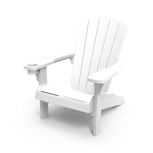 Keter 250465 Alpine Adirondack Garden Chair, White, 23.0 cm*100.0 cm*65.0...