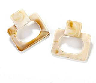 XISENHAN Vintage Square Geometric Earrings Trendy Statement Earrings Dangle Drop Earrings For Women Fashion Party Wedding ...