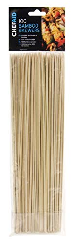 Chef Aid 10E01478 30 cm Bamboo Skewers, Plastic, Beige