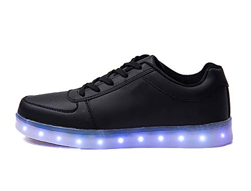 Cliont LED Schuhe 7 Farbe USB Aufladen Leuchtend Sportschuhe Led Sneaker Light up Turnschuhe for Herren Damen Kinder Schuhe